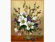 Белоснежные цветы (в раме)