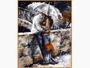 Любовь под дождем (в раме)