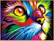 Радужный кот (в раме)