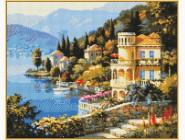 Алмазная вышивка Babylon Цветущее побережье (ST019, На подрамнике)