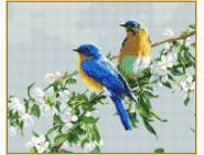 Алмазная вышивка  Babylon Птички на яблоне (ST809, На подрамнике)