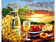 Цветы, натюрморты, букеты Белое вино с фруктами