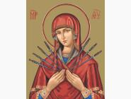 Иконы и религия: картины без коробки Богородица Семистрельная