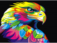 PGEX5329 Картина раскраска Радужный орел Brushme Premium