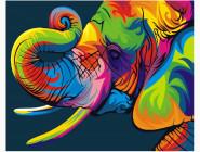 PGEX5330 Картина раскраска Радужный слон Brushme Premium