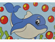 UMA502 Раскраска по цифрам Дельфинчик