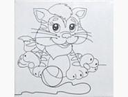 UMA472 Картина для рисования Котенок - Поиграем