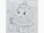 UMA468 Раскраска по номерам Веселый слоненок