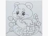 UMA456 Холст по номерам Медвежонок