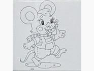 UMA475 Картина по цифрам Мышонок - Самый лучший подарок