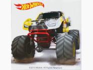 HW14216K Картина по цифрам Hot Wheels желтый бигфут