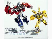 TF14218K Картина на холсте Transformers Оптимус Прайм и Бамблби