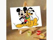 MA140 Раскраска по номерам Микки и Плуто