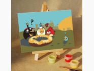 MA209 Живопись по номерам Angry Birds Пропало яйцо