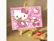 MA091 Картина по номерам Розовая Kitti