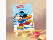 MA067 Картина раскраска Микки на коньках