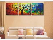 DZ3011 Картина по номерам Триптих. Денежное дерево Babylon