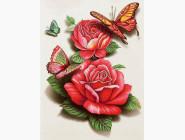 Бабочки на розах