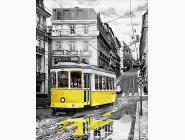 Машины, космос, самолеты: картины без коробки Желтый трамвайчик