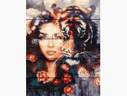 Портреты, люди на картинах по номерам Глаза тигра