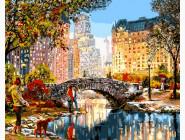 картина по номерам Осеннее утро в Нью-Йорке