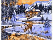 Зимний вечер у реки