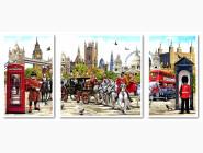 Триптихи по номерам и полиптихи Триптих Очарование Англии