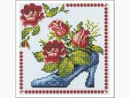Алмазная вышивка для детей Розы в туфельке