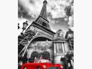 Красный ретро-автомобиль