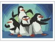 Алмазная вышивка для детей Пингвины Мадагаскара