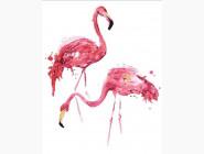 PG472 Картина по номерам Розовые фламинго Brushme