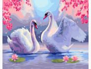 Лебеди под сакурой