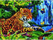 Rainbow Art Леопард у водопада