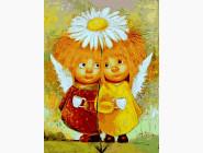 картина по номерам Пара солнечных ангелов