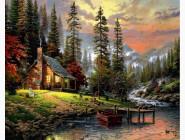 Пейзаж и природа VP1261 Картина по номерам Охотничьей домик Babylon