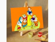 MA235 Картина по цифрам Белоснежка и гномы