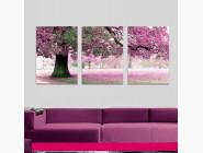 MS14028 Картина по номерам Триптих. Весенний цвет Babylon