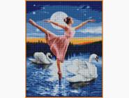 Алмазная живопись Babylon Лебединое озеро (ST008, На подрамнике)