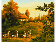 Вечерняя деревня
