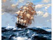 Море, морской пейзаж, корабли На всех парусах