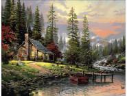 картина по номерам Охотничьей домик