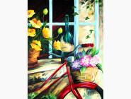 RS-N000072 Раскраска по цифрам Корзина с цветами