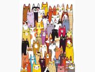 RS-N0001312 Рисование по номерам 50 котов
