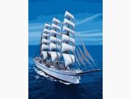 Море, морской пейзаж, корабли Белоснежный парусник