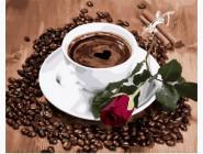картина по номерам Приглашение на кофе