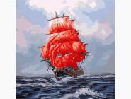 Море, морской пейзаж, корабли Алые паруса