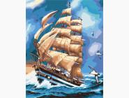Море, морской пейзаж, корабли Парусник АмеригоВеспучи