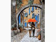 Городской пейзаж Апельсиновый зонтик