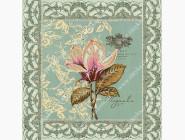 Цветы и натюрморты Вышивка бисером картины Идейка Магнолия (ВБ1025)