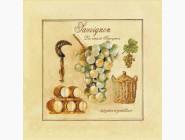 Картины для кухни  Набор для вышивки бисером Идейка Совиньон (ВБ1036)